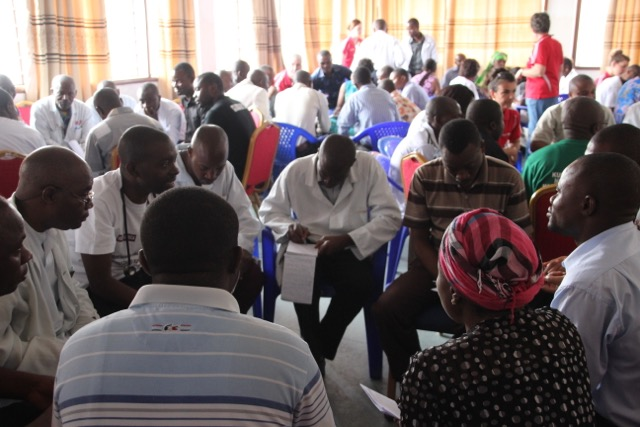 Group discussions at the AusHEAL sponsored 'Being Organised'  workshop