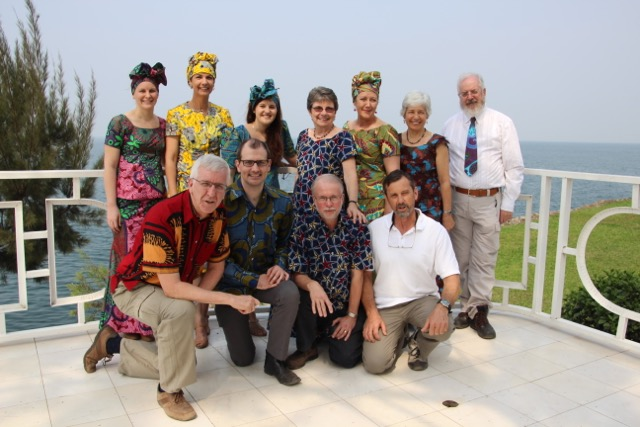 The AusHEAL Team mostly in Congolese clothing
