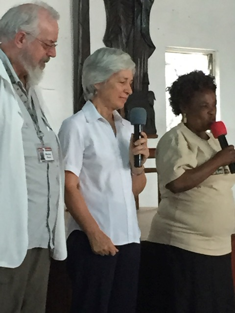 Mama Virginie (HEAL Africa Public Relations) farewells Dr Murray and Sue