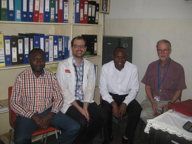 Exit meeting with Drs Serge (HAH Physician) Ryan Williams, Dr Luc (HAH Medical Director) and Neil Wetzig (AusHEAL)