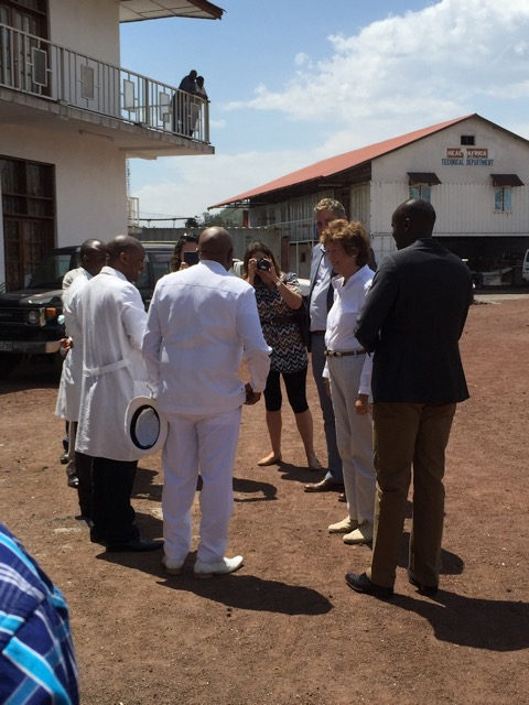 British Foreign Minister arriving at HEAL Africa Hospital