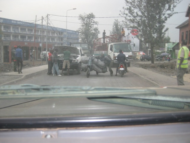 Goma roads - breakdown number 3