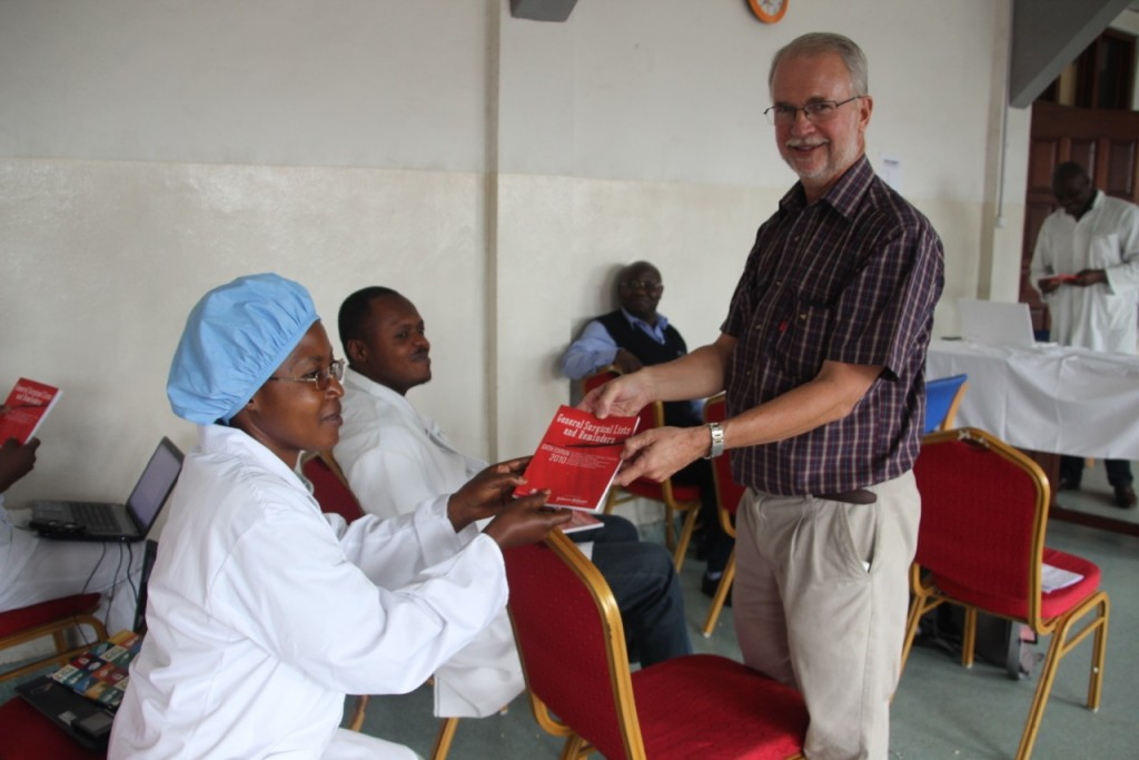 Booklet received by COSECSA trainees at their first lesson