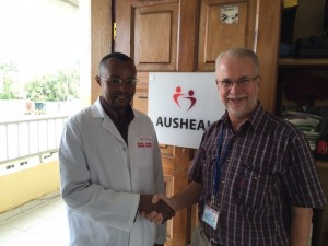 Poteau, returning nurse-anaesthetist with Neil
