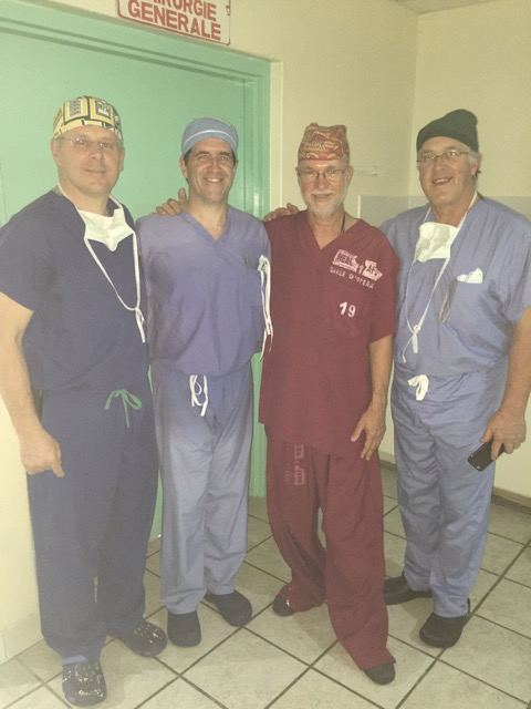 NEIL with members of the visiting USA surgical team