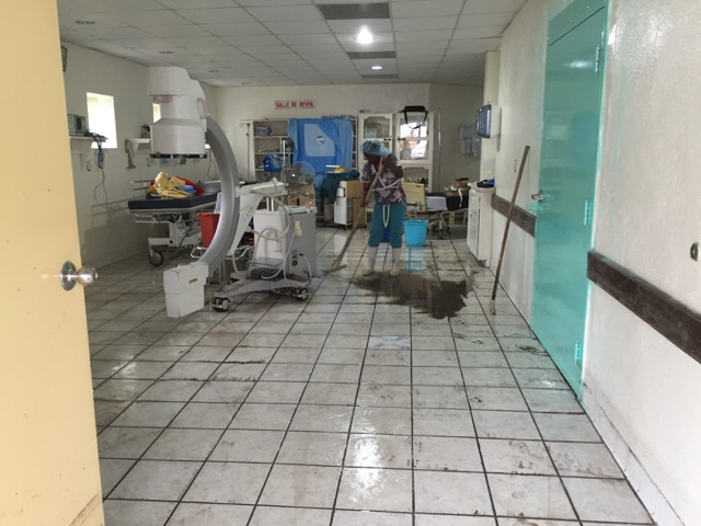 Recovery ward after cleaning 48 hours after flood