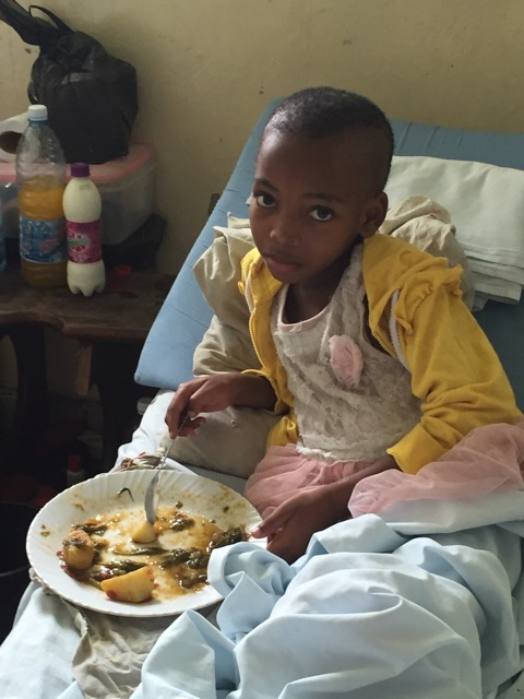 Kitso able to eat normal food 3 weeks after surgery