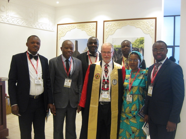 Dr Kinyoma (Trainee); Dr Luc (Director of COSECSA, HAH), Dr Kahuko (Trainee), Neil (awarded a COSECSA Fellowship 'by election') and Trainees Drs Severin, Francisca and Jacques.